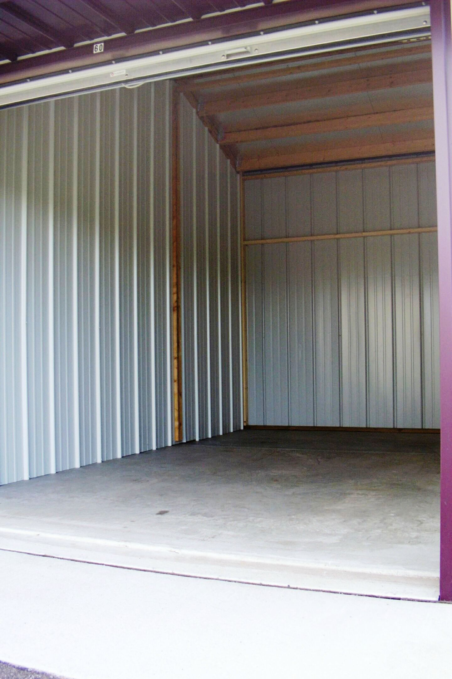 Inside picture of storage unit