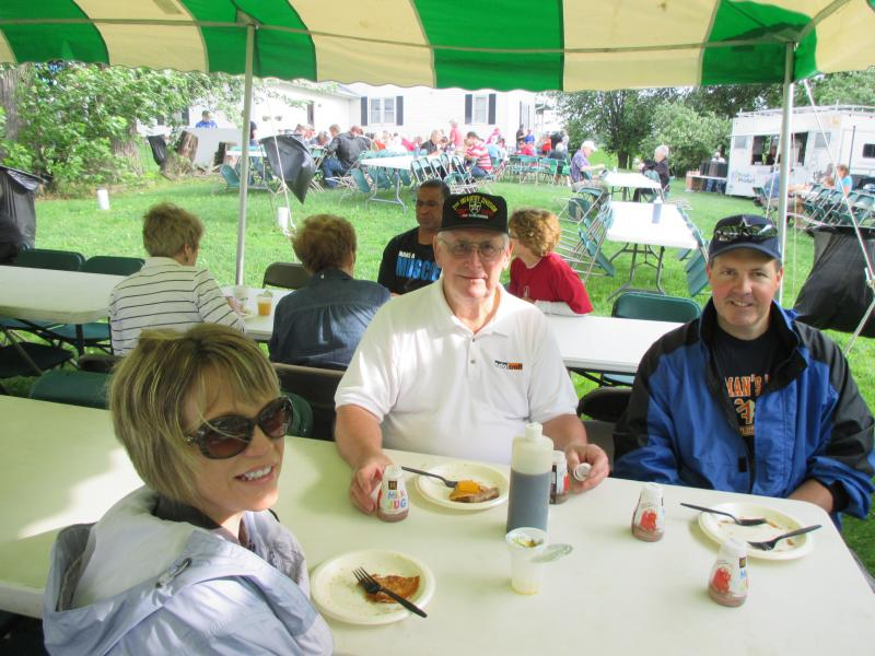 Lois, Ken, and Scott enjoying Breakfast on the Farm during Rochesterfest