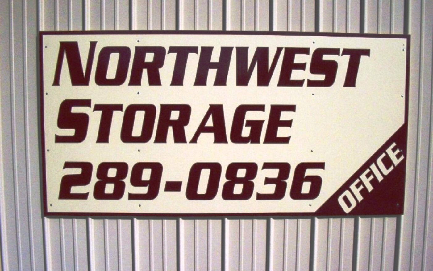 Sign for Northwest Storage